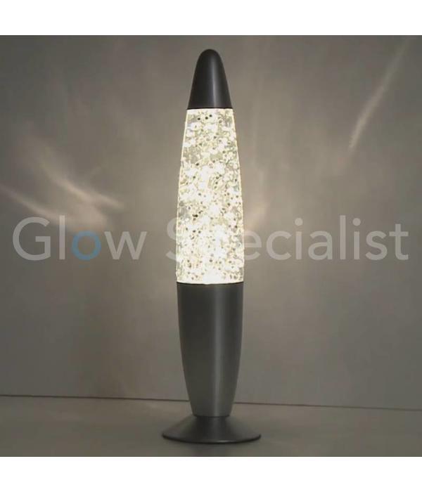 Party Fun Light GLITTER LAMP - SILVER