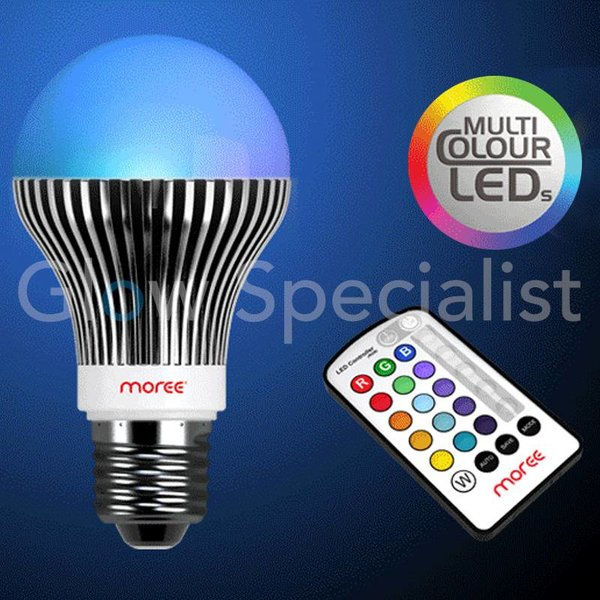 RGB COLORCHANGING LIGHTBULB E27 WITH REMOTE CONTROL