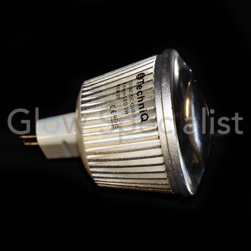 led color changing light gu5 3 12v 3w glow specialist. Black Bedroom Furniture Sets. Home Design Ideas