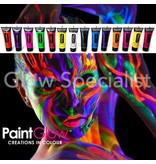 PAINTGLOW UV FACE & BODY PAINT - SET OF 12 TUBES