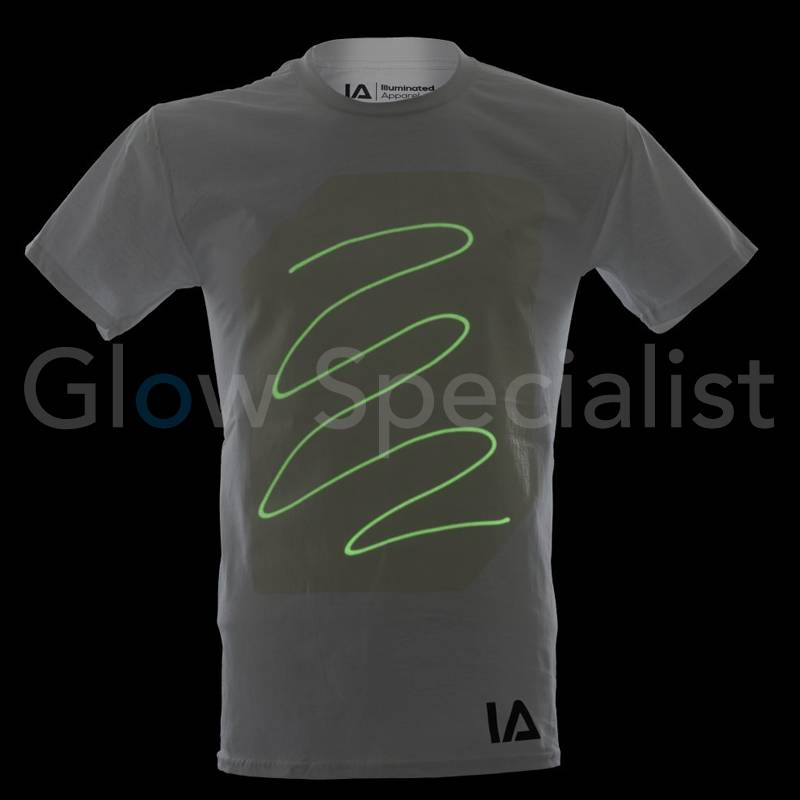 Shoulder for the t in glow shirts print dark