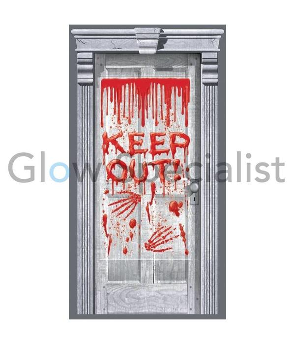 HALLOWEEN DECORATION SHEET - KEEP OUT