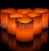 LED CANDLE WITH TIMER WHITE - 9 CM