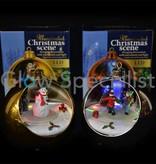 LED MULTI COLOR CHRISTMAS BALL - WITH ROTATING CHRISTMAS SCENE