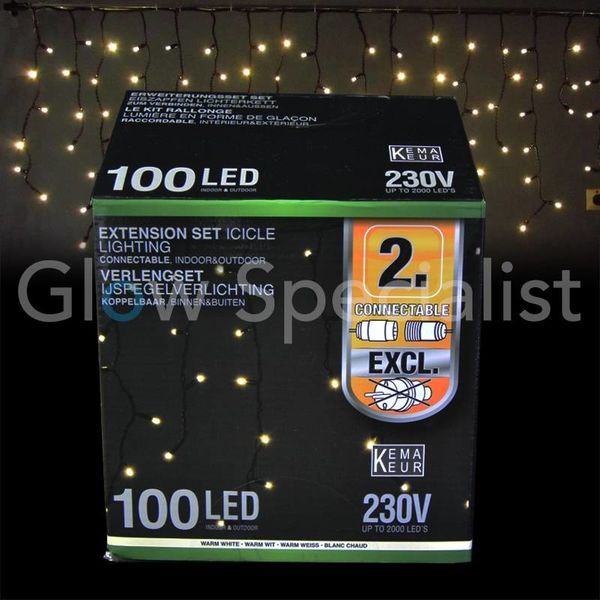VERLENGSET IJSPEGEL VERLICHTING - 100 LED - 3 M