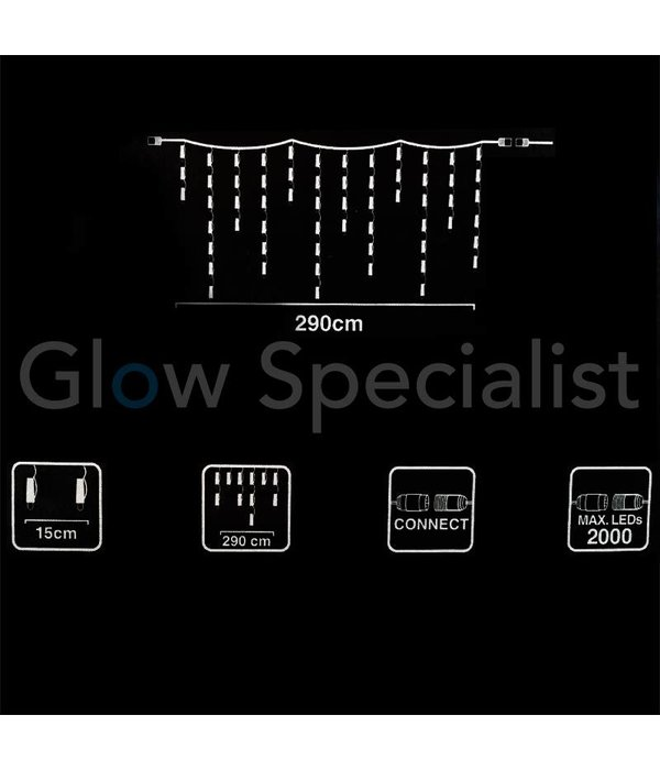 EXTENSION SET ICICLE LIGHTING - 100 LED - 3 METER