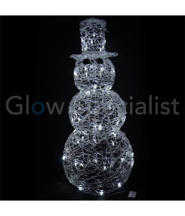 LED ACRYLIC SNOWMAN - 120 LED - 120 CM