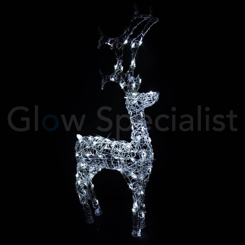 LED RENDIER ACRYL 120 LED - 120 CM - COOL WIT - koopt u bij glow ...