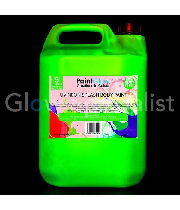 - PaintGlow PAINT GLOW BODY SPLASH VERF - 5 LITER - 4 KLEUREN