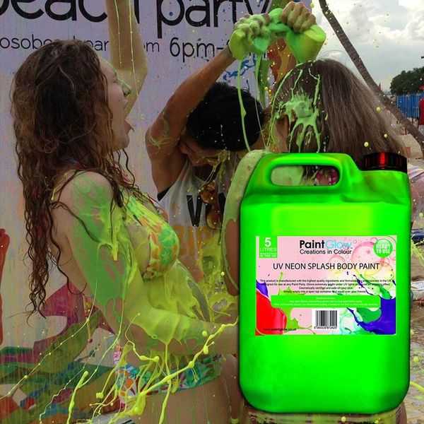 GLOW BODY PAINT PAINT SPLASH - 5 liters - 4 COLOURS