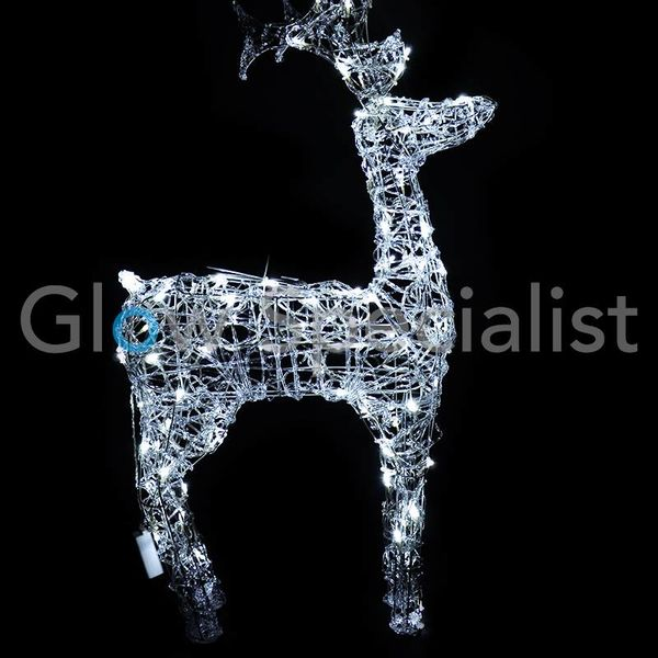 LED REINDEER ACRYLIC LED 120 - 120 CM - COOL WHITE