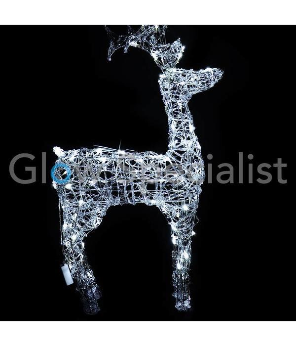 LED REINDEER ACRYLIC LED 120 - 120 CM - COOL WHITE