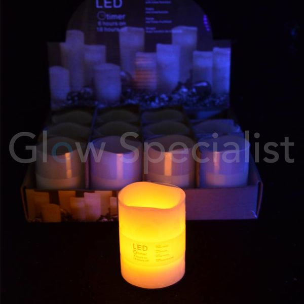 LED CANDLE WITH TIMER - 6,5 CM