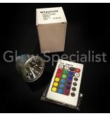 MOOD LIGHT RGB MR16 - GU5.3 - 3W - WITH REMOTE CONTROL
