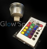 MOODLIGHT RGB 12 VAC - GU 5.3 - 3W - MET AFSTANDBEDIENING