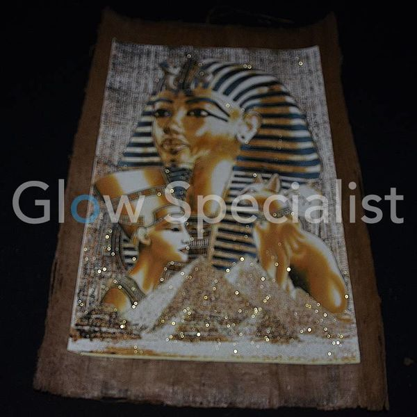 GLOW IN THE DARK PAPYRUS - TOETANCHAMON / EGYPTISCHE KAT