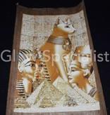 Glow in the dark Papyrus - Egyptian cat / Nefertiti