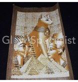 GLOW IN THE DARK PAPYRUS - EGYPTISCHE KAT / NEFERTITI