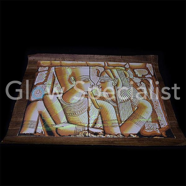 Glow in the dark Papyrus - Tutankhamun and Cleopatra