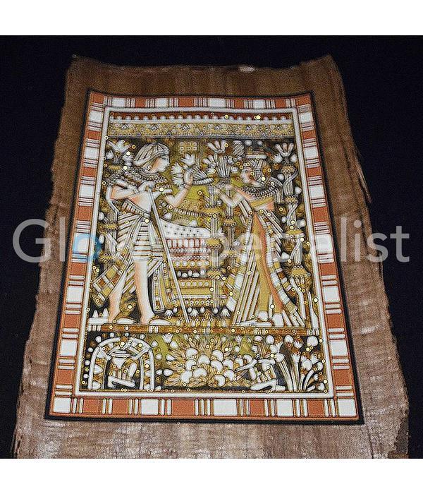 GLOW IN THE DARK PAPYRUS - NEFERTITI EN ACHNATON / EGYPTISCHE KAT