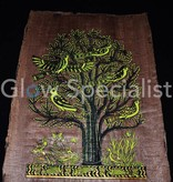 Glow in the dark Papyrus - Tree of Life / Egyptian Ankh