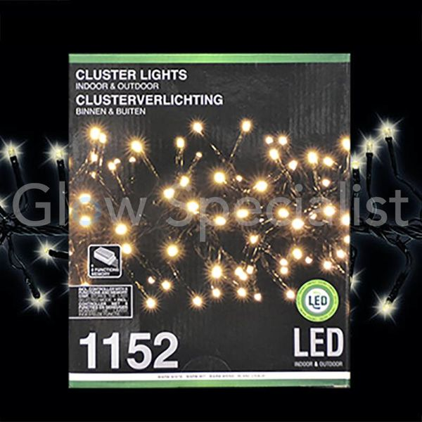 LED CLUSTERVERLICHTING - 1152 LAMPJES - WARM WIT