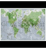 GLOW IN THE DARK WORLD MAP