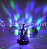 Party Fun Light Double rotating mirror balls