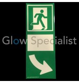 Glow in the dark door handle sign