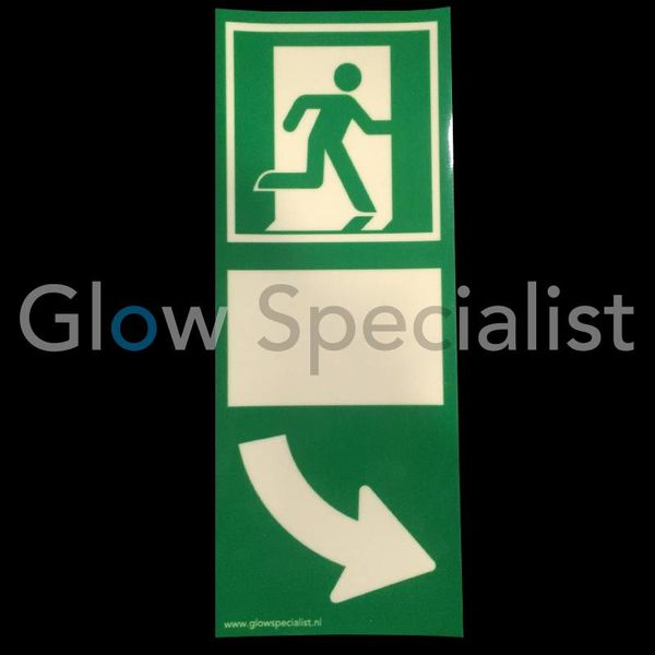 Glow in the dark door handle sign