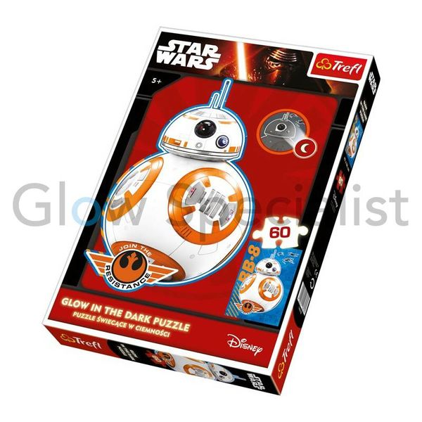 GLOW IN THE DARK Puzzle Star Wars BB-8, 60 pieces