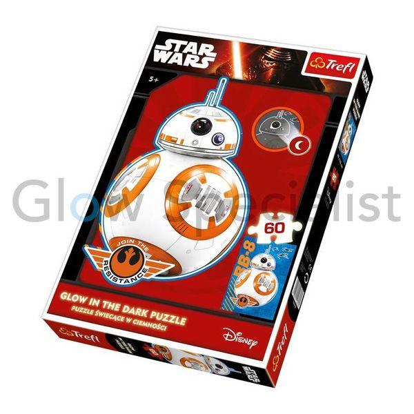 GLOW IN THE DARK Puzzle Star Wars BB-8, 60 pieces