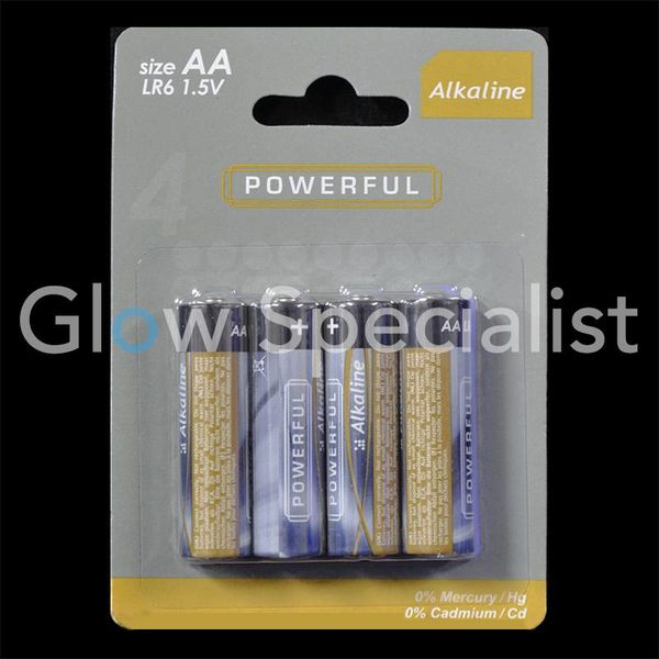 BATTERIES Alkaline 4 x AA