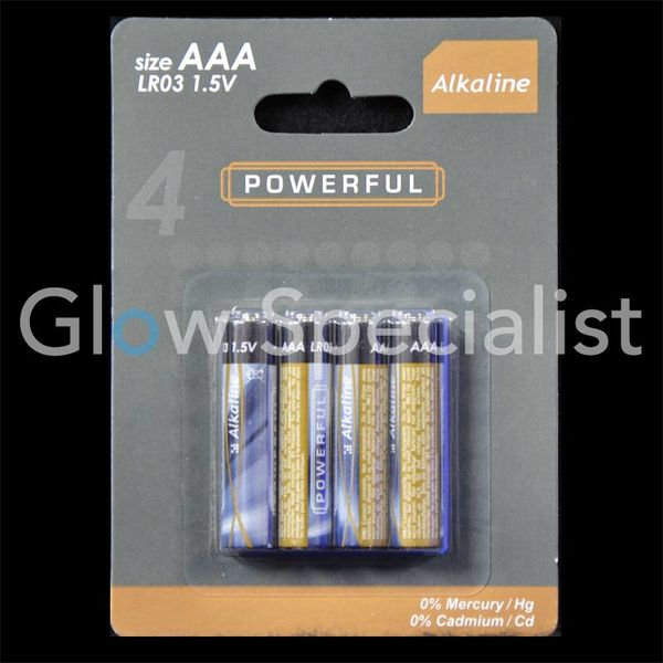 BATTERY ALKALINE 4 X AAA