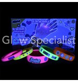 BLACKLIGHT BRACELETS Decoration - WITH 262 STICKERS