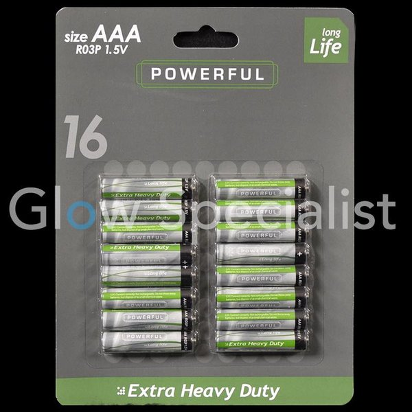 AAA Batteries - 16 pieces - Long Life