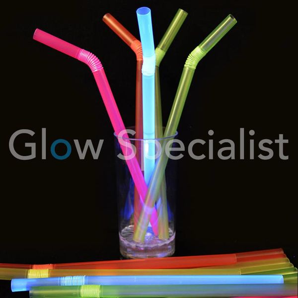 NEON FLEX STRAWS - 20 PIECES