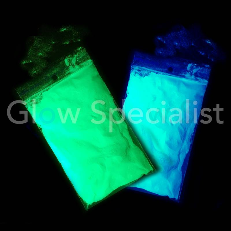 Glow Specialist Glow In The Dark Pigment 50 Gram Water Coated