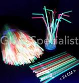 NEON FLEXIBLE STRAWS - 24 CM - 500 PIECES