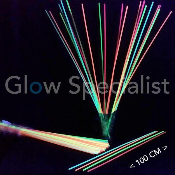 NEON STRAWS - 100 CM (XXL) - 100 PIECES
