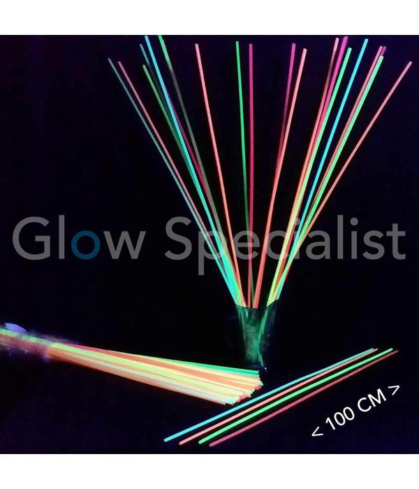 NEON STRAWS - 100 CM (XXL) - 100 PIECES