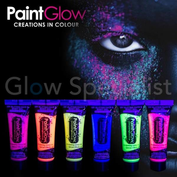 PAINTGLOW UV GLITTER FACE & BODY GEL