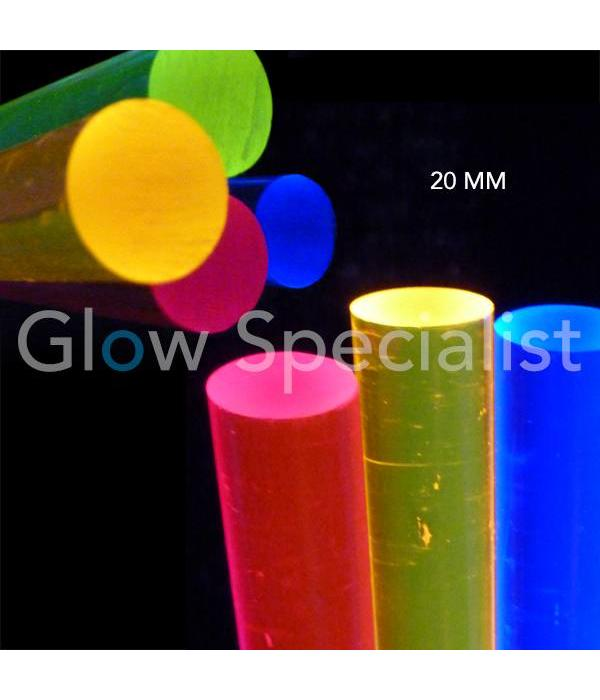Acrylic - blacklight rod (20 mm)