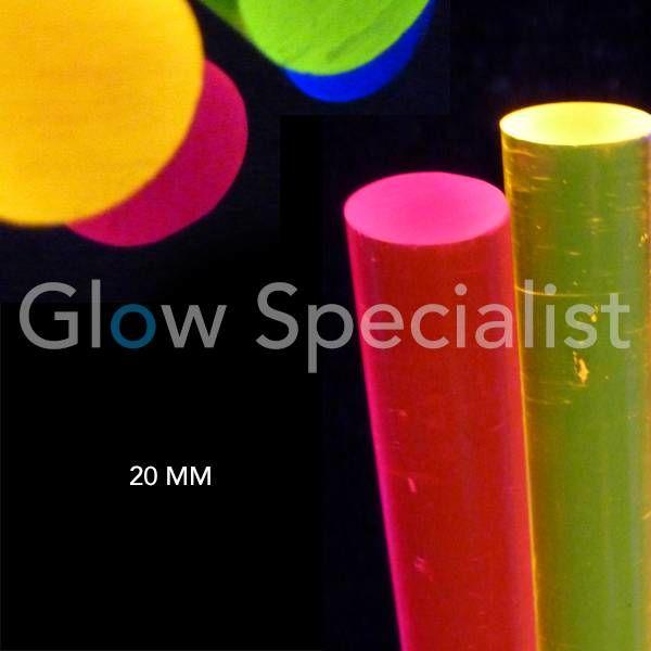 Acrylic - blacklight rod (20 mm)