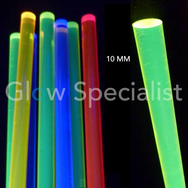 Acrylic - blacklight rod (10 mm)