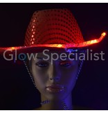 LED Cowboy Hat with sequins