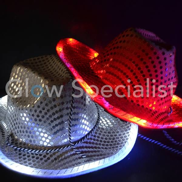 LED COWBOYHOED MET PAILLETTEN