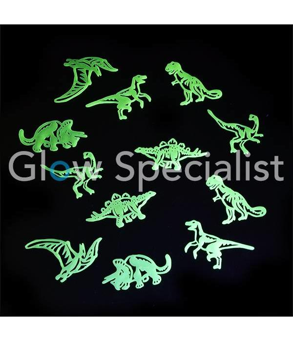 GLOW IN THE DARK FIGUREN SET - 6 PAKJES ASSORTI - 72 STUKS