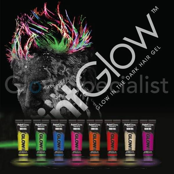 PAINT GLOW GLOW IN THE DARK HAIR GEL