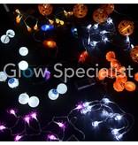HALLOWEEN LICHTKETTING MET 10 LAMPJES - DOODSHOOFD